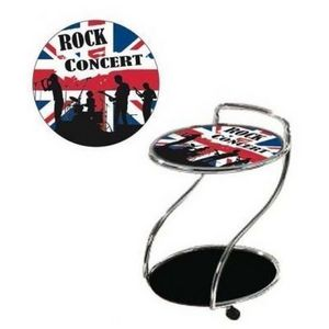 International Design - guéridon sur roulettes rock concert - Table Basse Bar