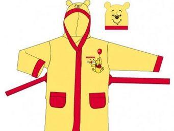 DISNEY - peignoir winnie l'ourson jaune et rouge 2/4ans -  - Peignoir Enfant