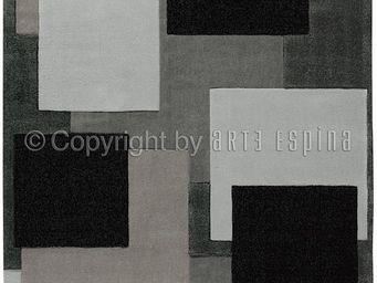 Arte Espina - tapis reflective 6 gris 200x300 en acrylique - Tapis Contemporain