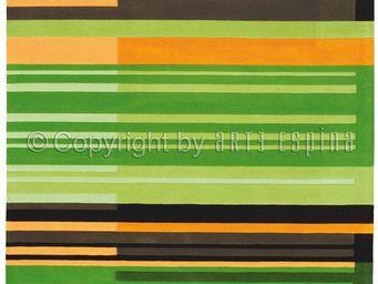 Arte Espina - tapis de chambre colour codes vert 120x180 en acry - Tapis Contemporain