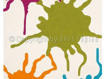Arte Espina - tapis de petit tapis colour festival multicolor 90 - Tapis Contemporain