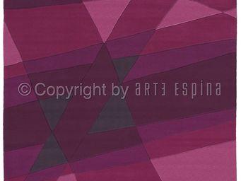 Arte Espina - tapis de petit tapis luminous 1 violet 70x140 en a - Tapis Contemporain