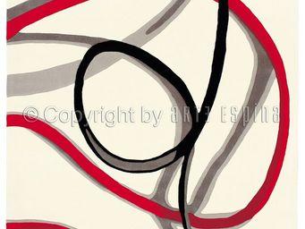 Arte Espina - tapis de salon red trace 1 blanc 140x200 en acryli - Tapis Contemporain