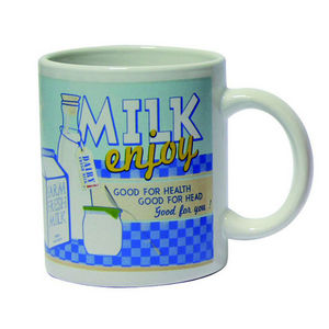 WHITE LABEL - mug vintage enjoy milk - Mug