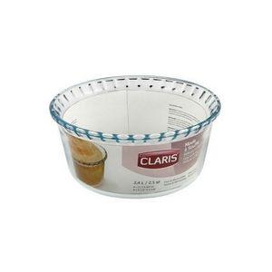 WHITE LABEL - moule à soufflé cannelé en verre saint-gobain coll - Moule À Gâteau