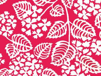 FLEUR DE SOLEIL - tissu hortensia fuchsia 160x160 - Tissu D'ameublement