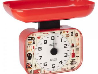 La Chaise Longue - balance cuisine 70's rouge - Balance De Cuisine Électronique