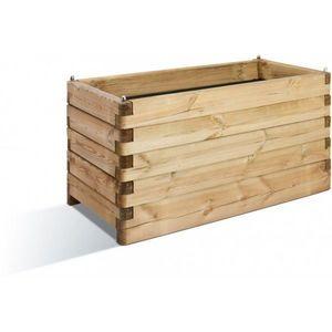 JARDIPOLYS - bac à fleur rectangulaire en bois 252 litres jardi - Bac À Fleurs