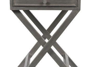 BLANC D'IVOIRE - boris gm gris foncé - Table De Chevet