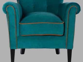 BLANC D'IVOIRE - karl turquoise - Fauteuil