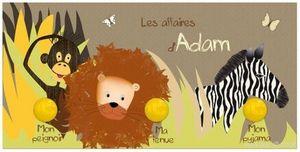 BABY SPHERE - portemanteau 49,5x24,5cm jungle - Porte Manteau Enfant