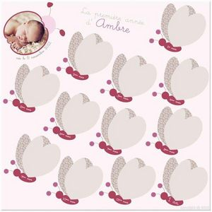 BABY SPHERE - cadre première année papillons - Cadre Multi Vues