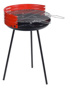 Dalper - barbecue à charbon rond en acier 50x79cm - Barbecue Au Charbon