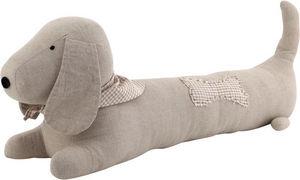 Aubry-Gaspard - chien de porte coton et lin - Boudin De Porte
