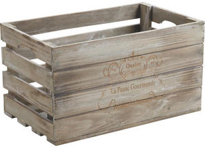 Aubry-Gaspard - caisse en bois pause gourmande - Caisse De Rangement