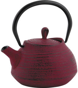 Aubry-Gaspard - th�i�re en fonte rouge 0.7 litres 16x14x11.5cm - Th�i�re