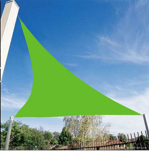 VERANOVA - voile d'ombrage triangulaire anis en polyester 30 - Voile D'ombrage