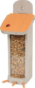 ZOLUX - distributeur de graines garden en bois orange 27x1 - Mangeoire À Oiseaux