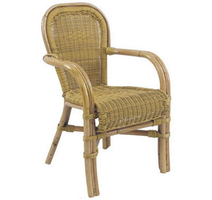 Aubry-Gaspard - fauteuil maastricht en malacca synthétique 62x58x9 - Fauteuil De Jardin