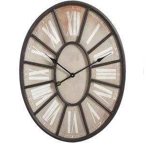 Aubry-Gaspard - horloge murale en métal ovale 55x5x73cm - Horloge Murale