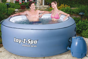 LAY Z - spa 80 jets de massage pour 4 personnes 206x70cm - Piscine Gonflable