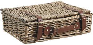 Aubry-Gaspard - valise de rangement en osier vieilli - Panier De Rangement