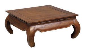 Aubry-Gaspard - table basse opium 80x80x35cm - Table Basse Carrée