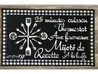 Fomax - tapis de cuisine fantaisie - couleur - noir - Tapis D'évier