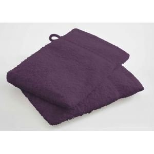 TODAY - lot de 2 gants de toilette - couleur - violet - Serviette De Toilette