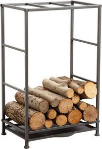 Aubry-Gaspard - rack porte-b�ches avec tiroir � poussi�re - Porte Buches