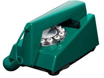 WHITE LABEL - téléphone trim vert paon - Téléphone Décoratif