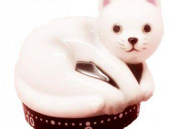 La Chaise Longue - minuteur chat blanc - Minuteur