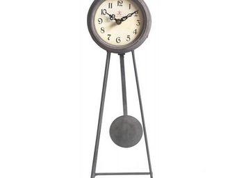 L'HERITIER DU TEMPS - horloge � balancier en fer 45cm - Horloge � Poser