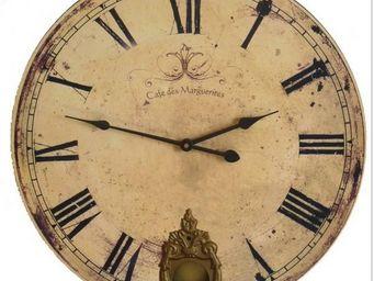 L'HERITIER DU TEMPS - horloge café des marguerites 46cm - Horloge Murale