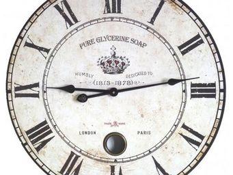 L'HERITIER DU TEMPS - horloge murale en bois à balancier 58cm - Horloge Murale
