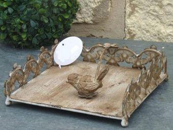 L'HERITIER DU TEMPS - porte serviette en fer oiseau - Porte Serviettes En Papier