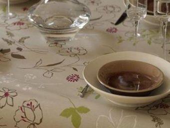 FLEUR DE SOLEIL - coton camélia - Nappe Rectangulaire