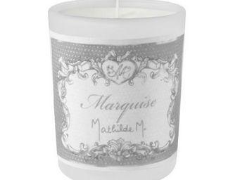 Mathilde M - bougie de voyage en verre givré, parfum marquise,  - Bougie Parfumée