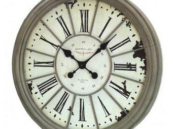 L'HERITIER DU TEMPS - horloge murale en fer style loft ø67 cm - Horloge Murale