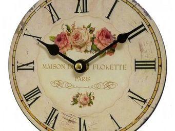 L'HERITIER DU TEMPS - horloge murale rose �16.5cm - Horloge Murale
