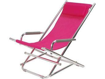 La Chaise Longue - chaise longue alu rose - Transat