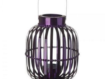 La Chaise Longue - lanterne shinny violet - Lanterne D'extérieur