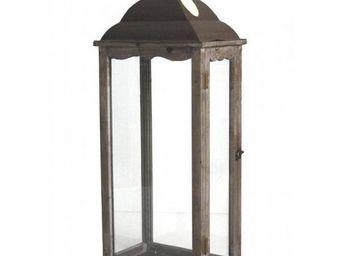 L'HERITIER DU TEMPS - grande lanterne fer et bois - Lanterne D'extérieur
