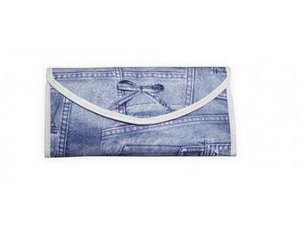 INVOTIS - accessoire maquillage jeans bleu - Trousse De Maquillage