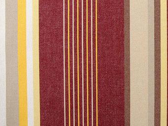 Le Quartier des Tissus - toile de bache rayee salamanque bordeaux - Tissu D'ext�rieur