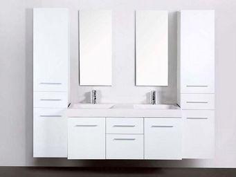 UsiRama.com - meuble salle de bain double vasques think 1.8m - Meuble Double Vasque