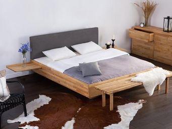 BELIANI - lit en bois - Lit Double