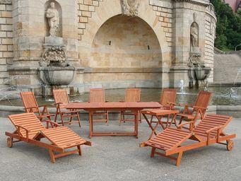 BELIANI - mobilier de jardin en bois toscana - Salle À Manger De Jardin