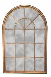 Demeure et Jardin - miroir fenetre doré - Miroir