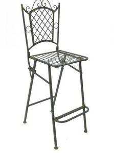 Demeure et Jardin - chaise de bar vert de gris - Chaise Haute De Bar